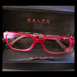 59ba763fa99 RALPH Ralph Lauren cherry red eyeglass frames